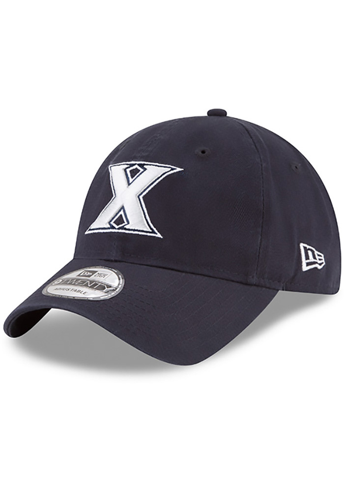 New Era Xavier Musketeers Mens Navy Blue Core Classic 9TWENTY Adjustable Hat - Image 1