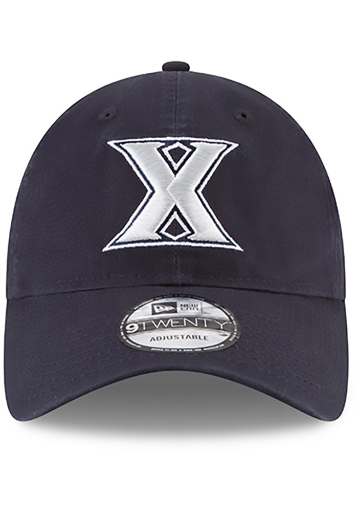 New Era Xavier Musketeers Mens Navy Blue Core Classic 9TWENTY Adjustable Hat - Image 2