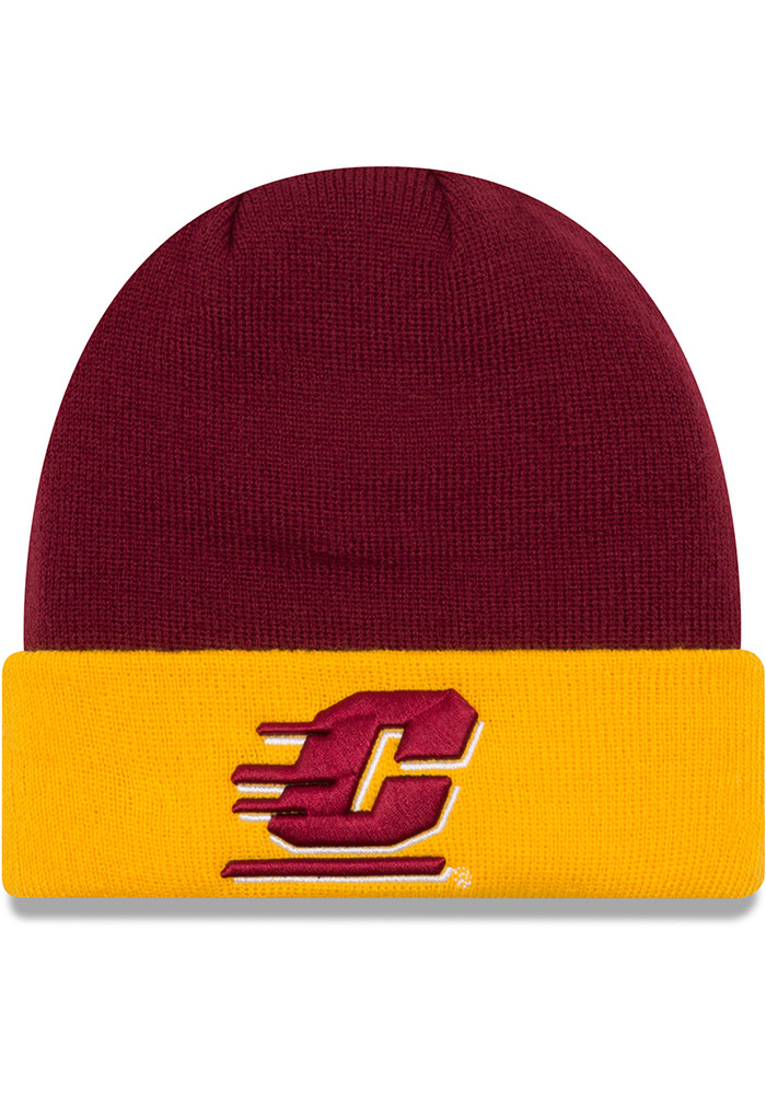 New Era Central Michigan Chippewas Maroon Cuff Mens Knit Hat - Image 1