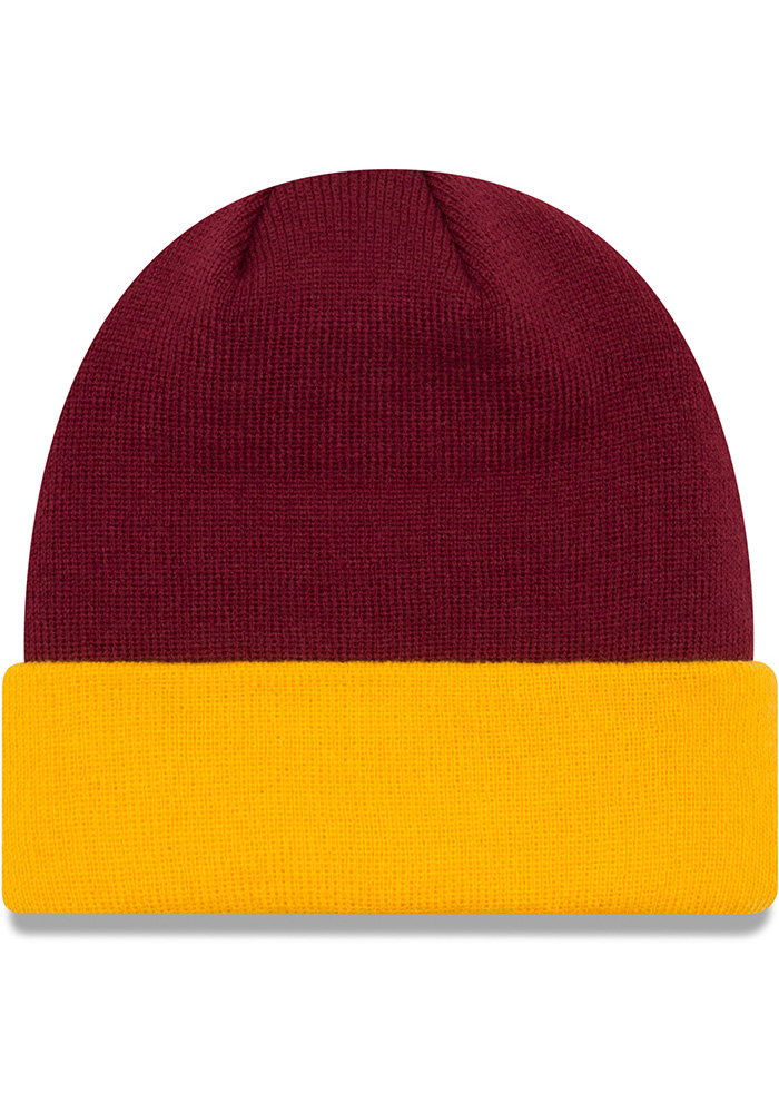 New Era Central Michigan Chippewas Maroon Cuff Mens Knit Hat - Image 2
