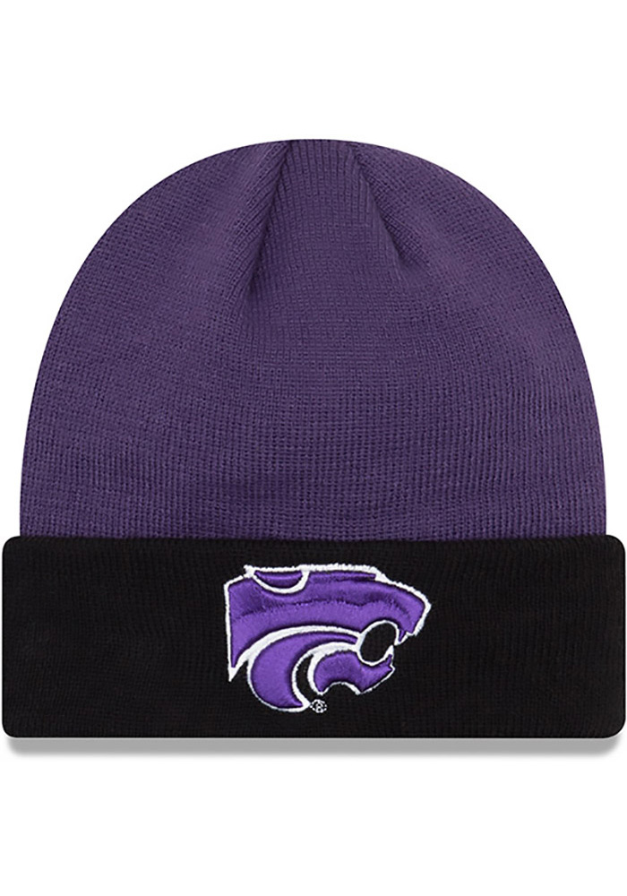 New Era K-State Wildcats Purple Cuff Mens Knit Hat - Image 1