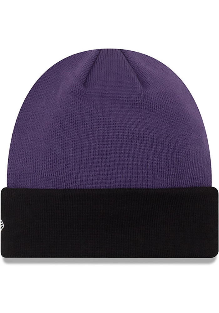 New Era K-State Wildcats Purple Cuff Mens Knit Hat - Image 2