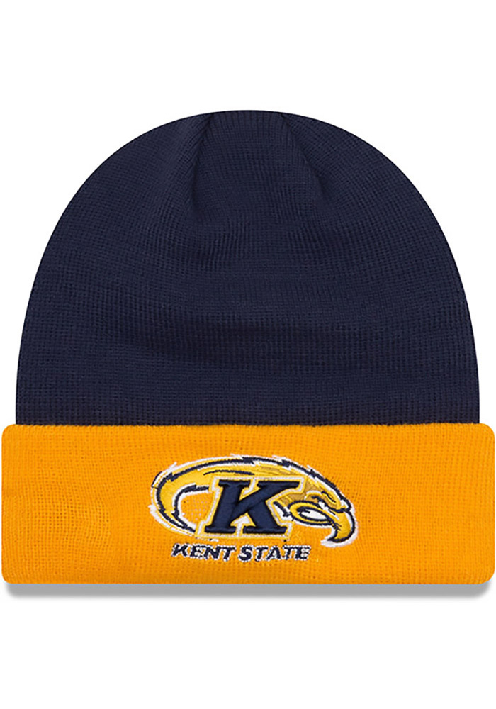 New Era Kent State Golden Flashes Blue Cuff Mens Knit Hat, Blue, 100% ACRYLIC, Size OSFM