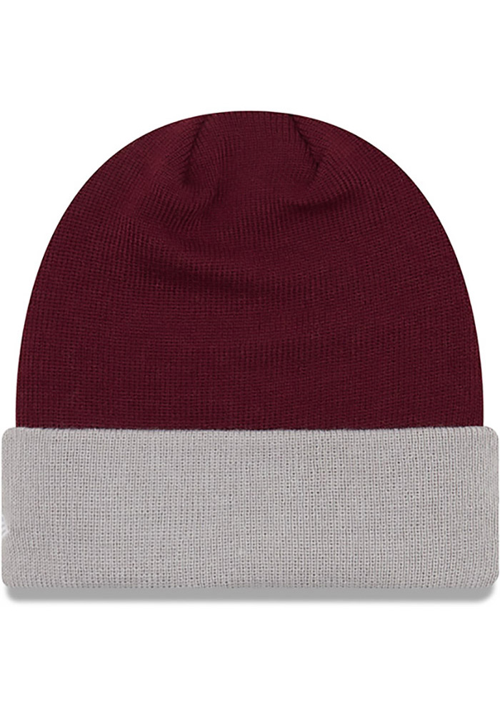 New Era Texas A&M Aggies Maroon Cuff Mens Knit Hat - Image 2