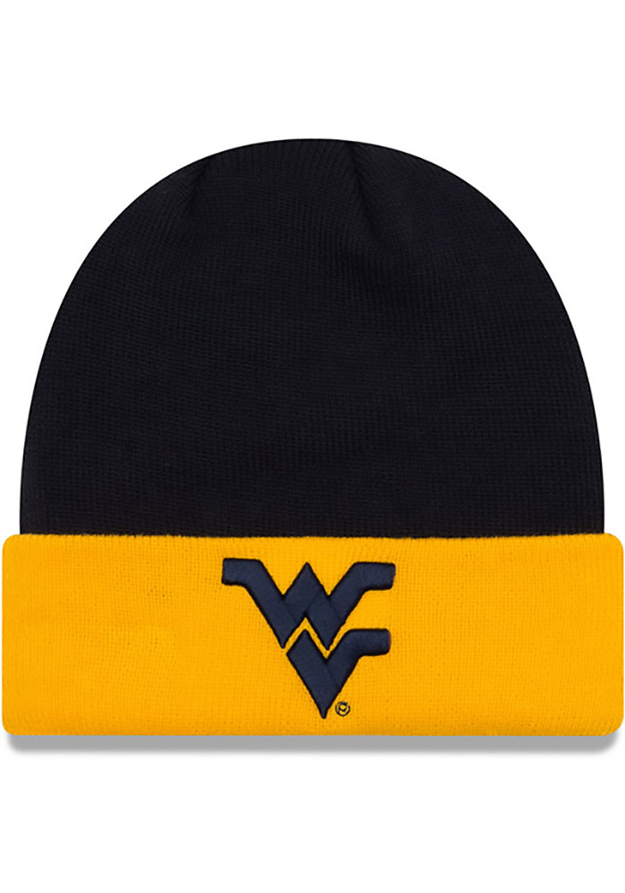 New Era West Virginia Mountaineers Navy Blue Cuff Knit Hat 7047f4cf642f