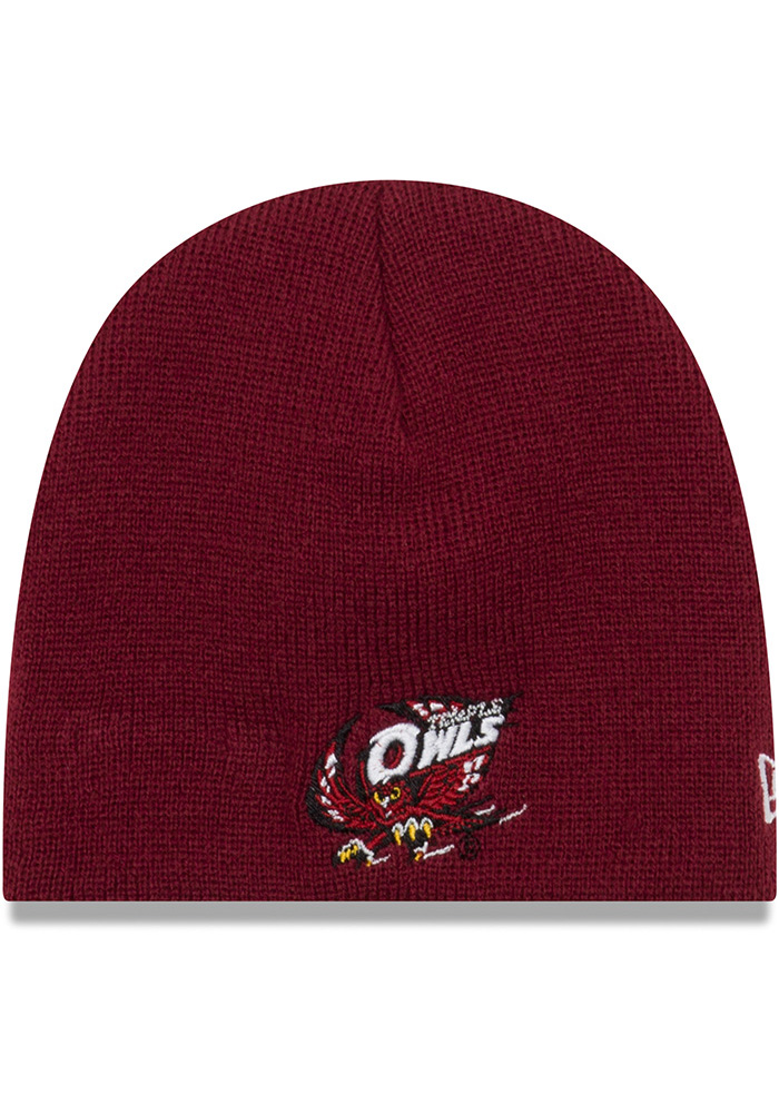 New Era Temple Owls My 1st Baby Knit Hat - Maroon - Image 1