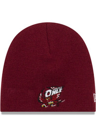 New Era Temple Owls My 1st Baby Knit Hat - Maroon