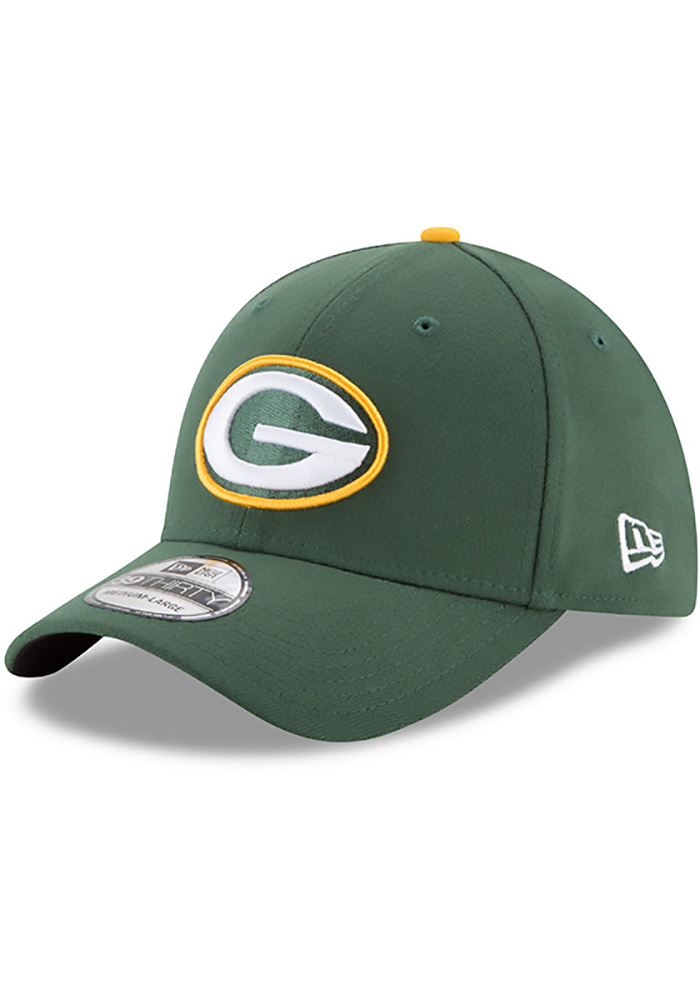 New Era Green Bay Packers Mens Green Team Classic 39THIRTY Flex Hat - Image 1