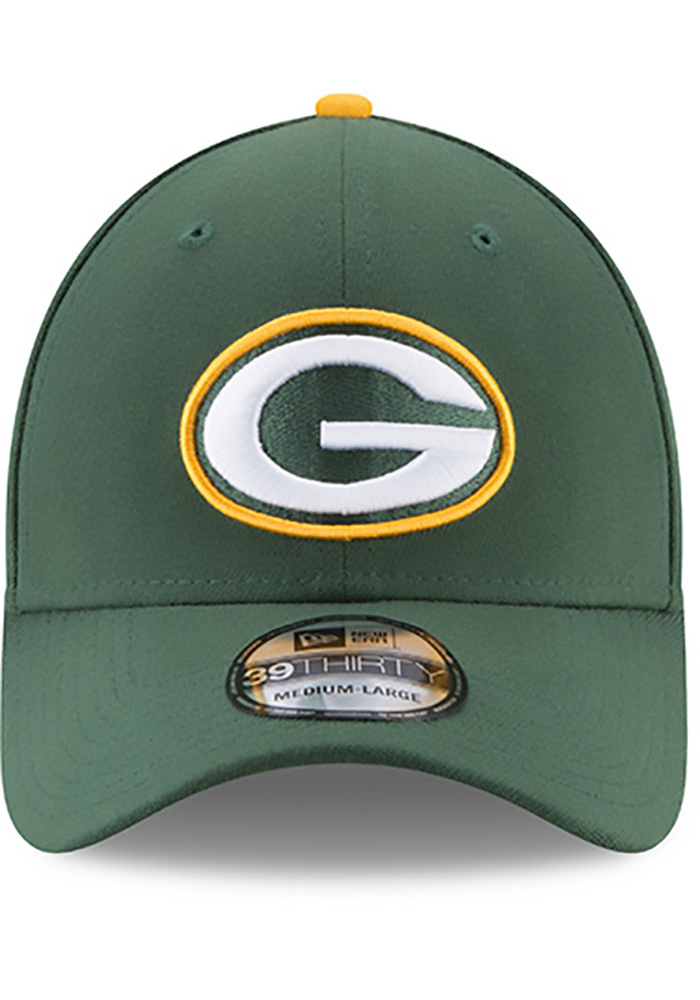 New Era Green Bay Packers Mens Green Team Classic 39THIRTY Flex Hat - Image 3