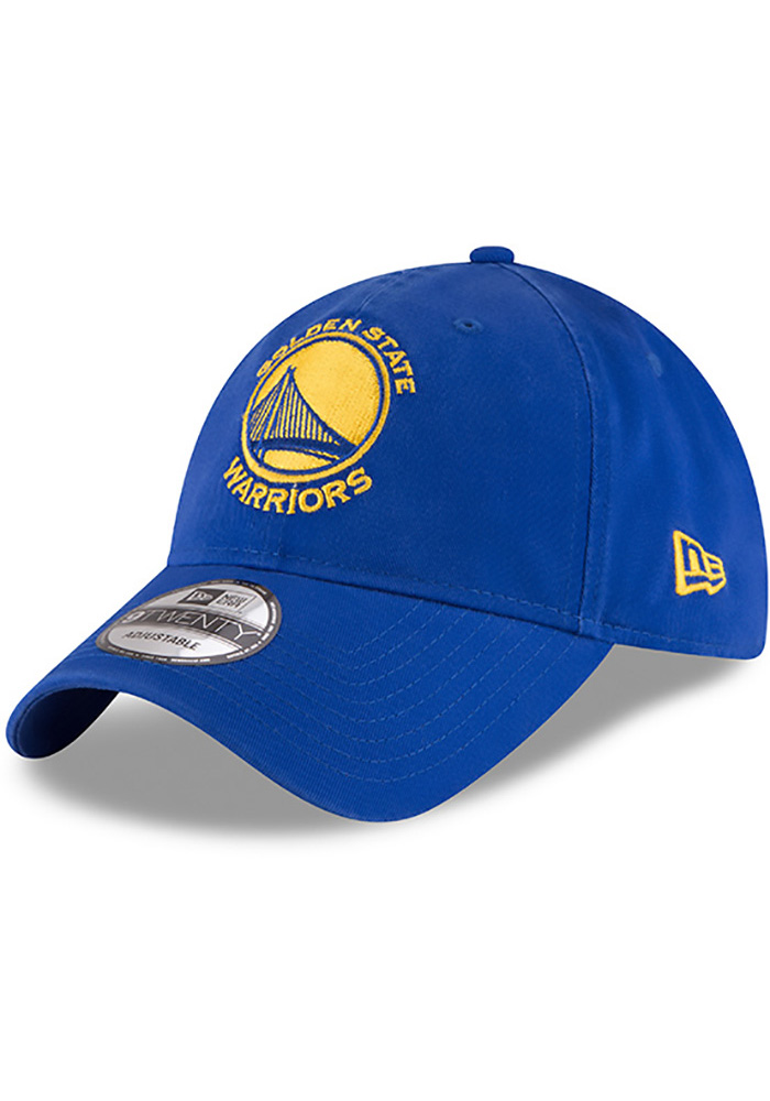 New Era Golden State Warriors Core Classic 9TWENTY Adjustable Hat - Blue - Image 1