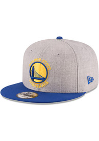 New Era Golden State Warriors Grey Heather 9FIFTY Snapback Hat