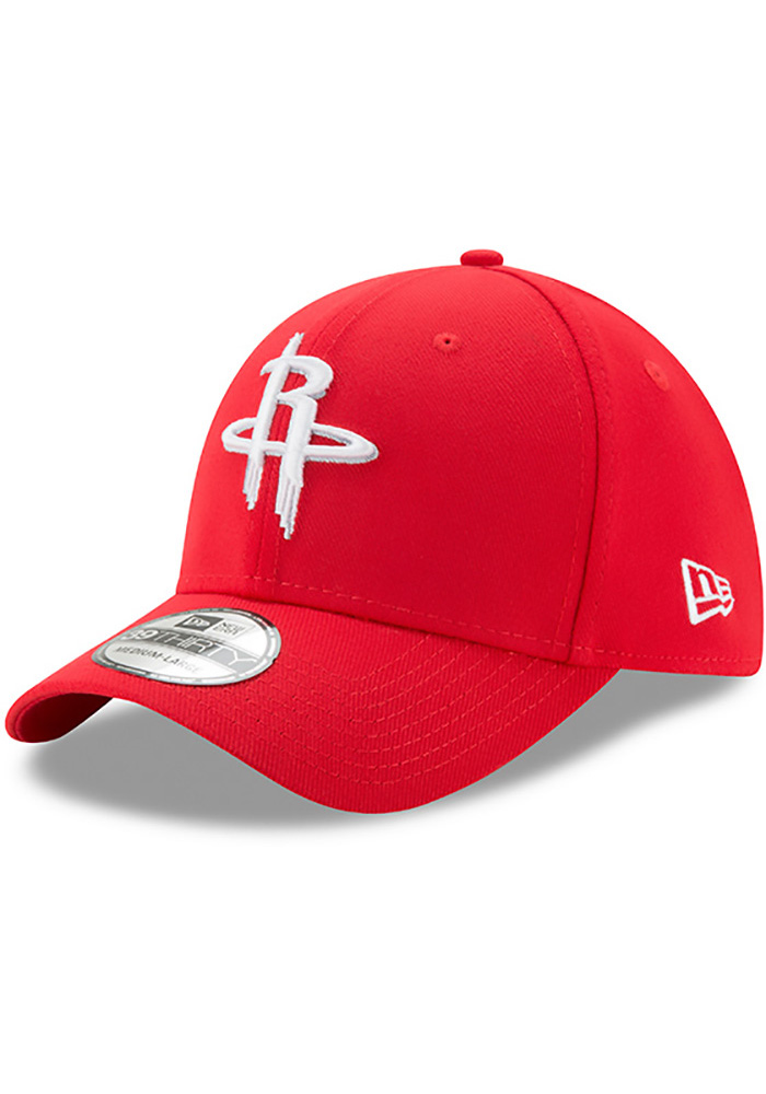 New Era Houston Rockets Mens Red Team Classic 39THIRTY Flex Hat - Image 1