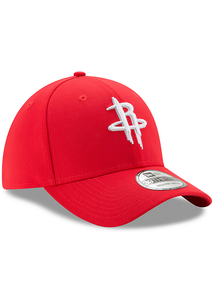 New Era Houston Rockets Mens Red Team Classic 39THIRTY Flex Hat - Image 2
