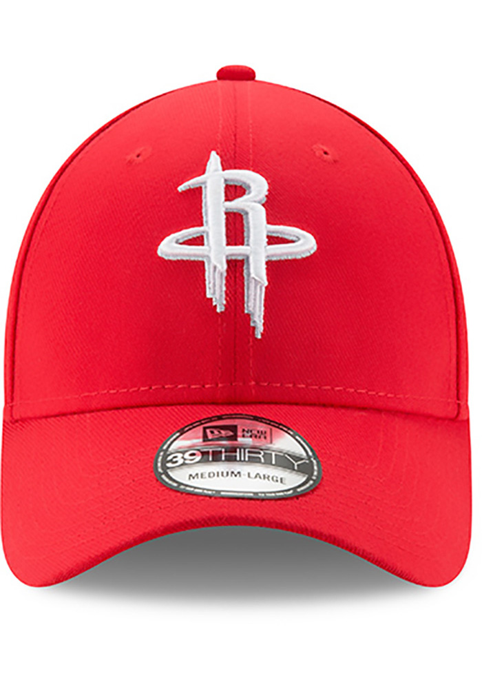 New Era Houston Rockets Mens Red Team Classic 39THIRTY Flex Hat - Image 3