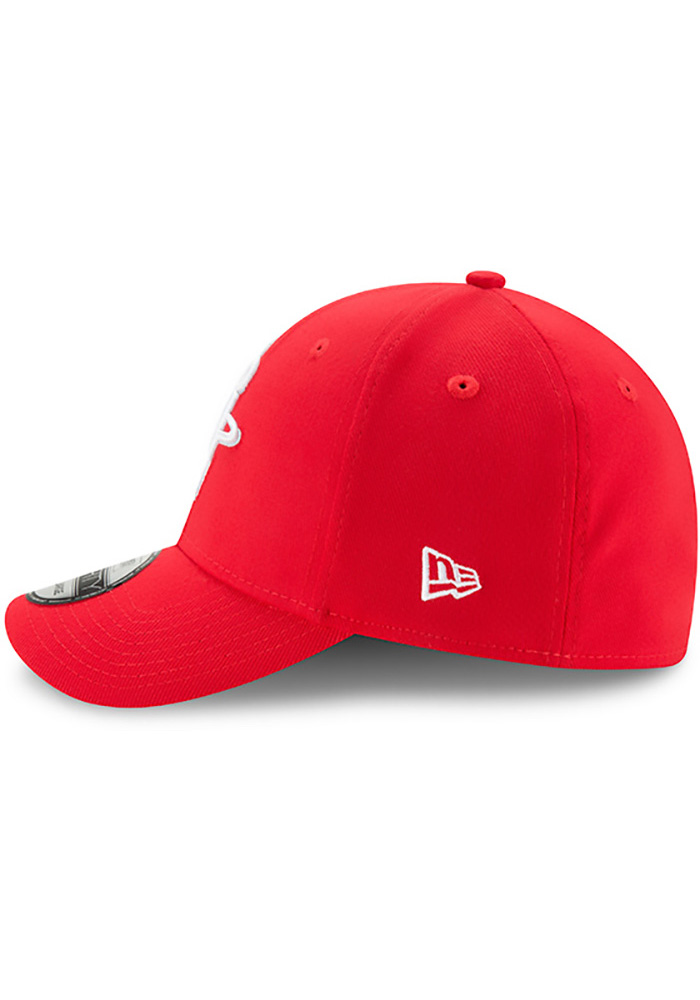 New Era Houston Rockets Mens Red Team Classic 39THIRTY Flex Hat - Image 4