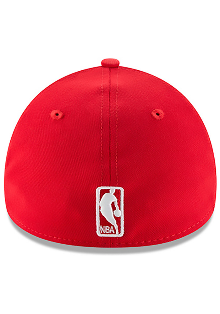 New Era Houston Rockets Mens Red Team Classic 39THIRTY Flex Hat - Image 5