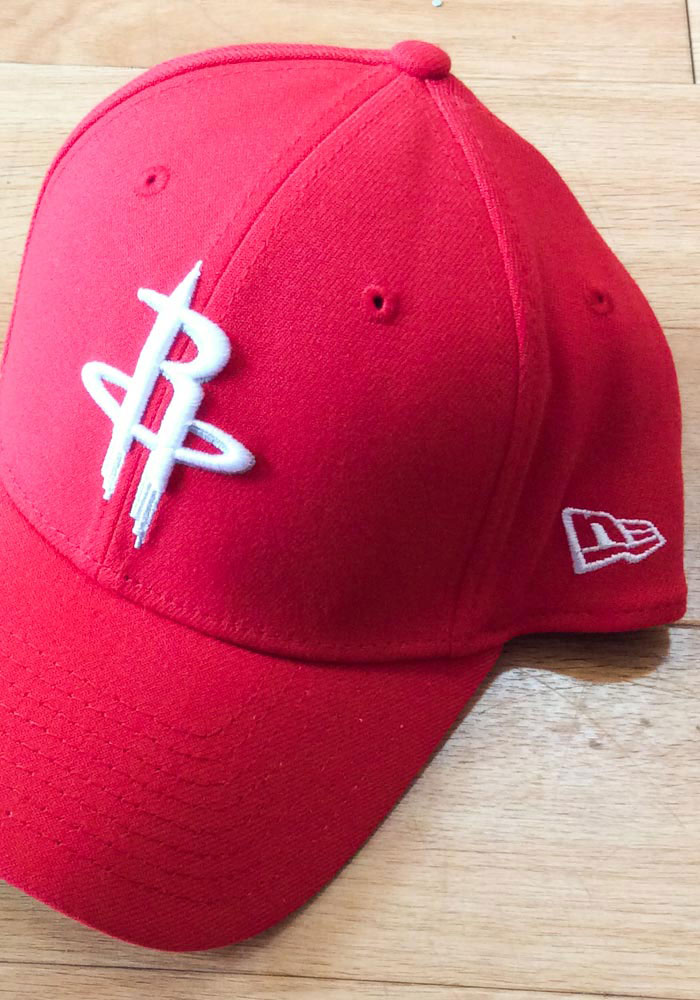New Era Houston Rockets Mens Red Team Classic 39THIRTY Flex Hat - Image 7