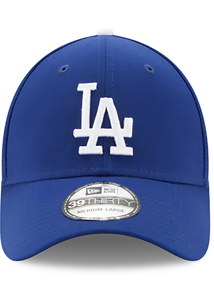 New Era Los Angeles Dodgers Mens Blue Team Classic 39THIRTY Flex Hat - Image 3