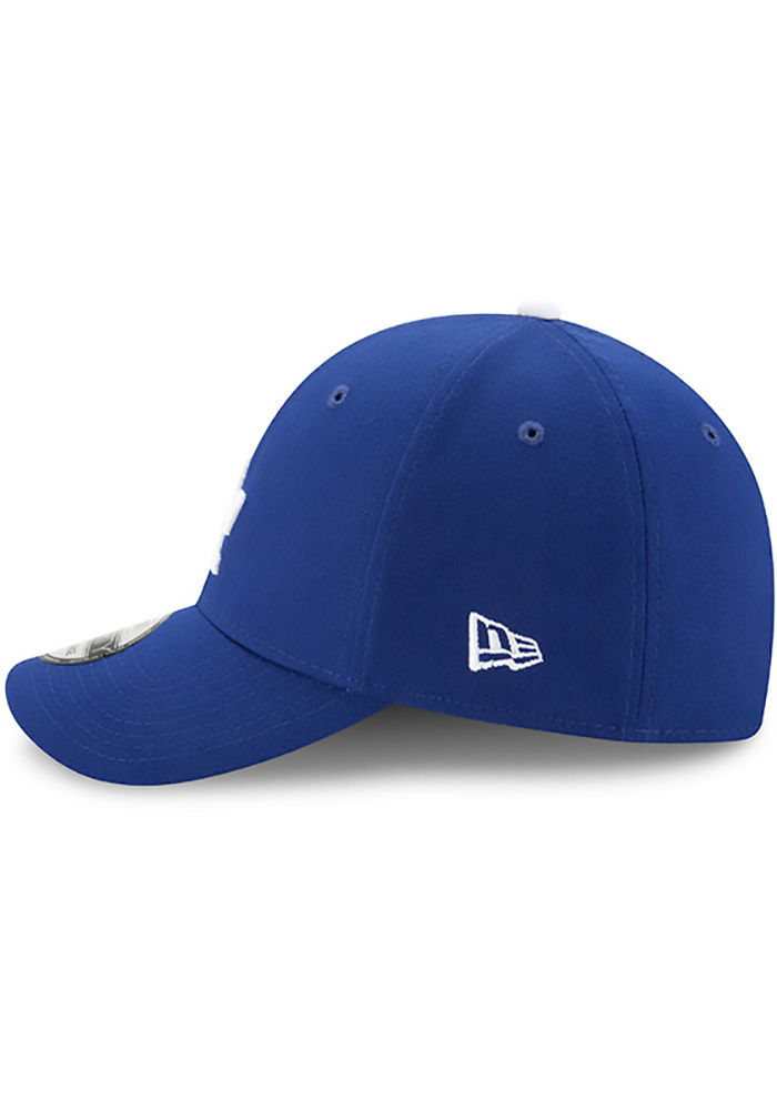 New Era Los Angeles Dodgers Mens Blue Team Classic 39THIRTY Flex Hat - Image 4