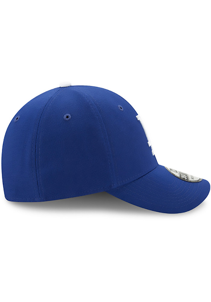 New Era Los Angeles Dodgers Mens Blue Team Classic 39THIRTY Flex Hat -  Image 6 fd1cc1678