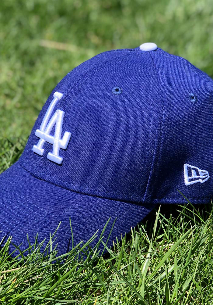 New Era Los Angeles Dodgers Mens Blue Team Classic 39THIRTY Flex Hat - Image 8