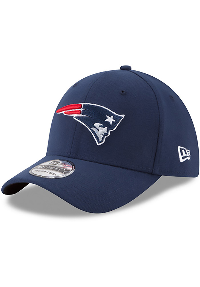 b5fdccace ... get new era new england patriots mens navy blue team classic 39thirty  flex hat image 1