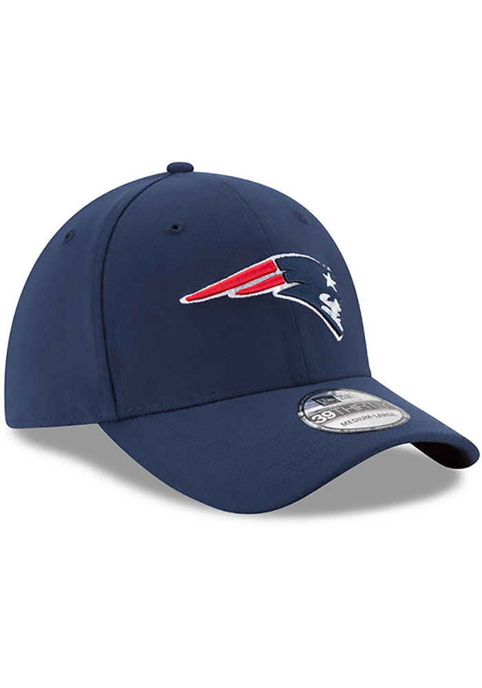 New Era New England Patriots Mens Navy Blue Team Classic 39THIRTY Flex Hat - Image 2