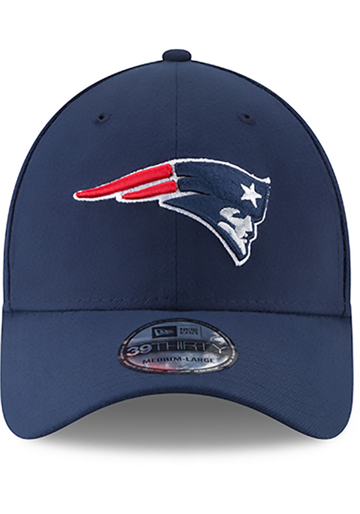 New Era New England Patriots Mens Navy Blue Team Classic 39THIRTY Flex Hat - Image 3