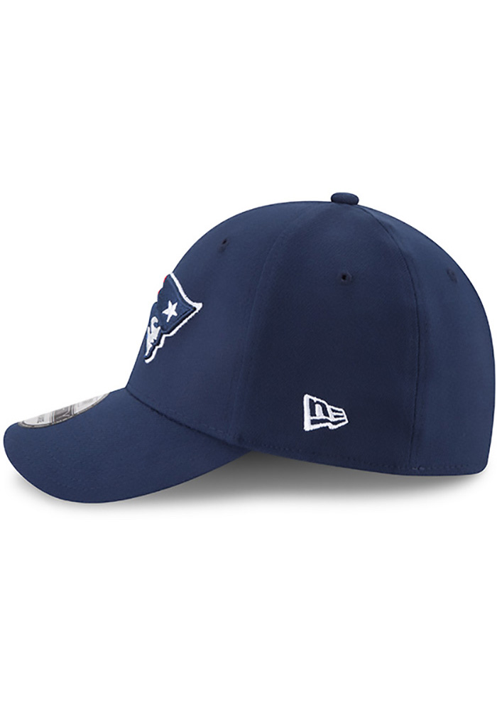 New Era New England Patriots Mens Navy Blue Team Classic 39THIRTY Flex Hat - Image 4