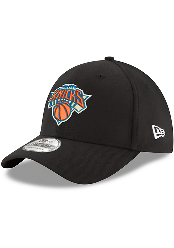 New Era New York Knicks Mens Black Team Classic 39THIRTY Flex Hat - Image 1 db502b0d2