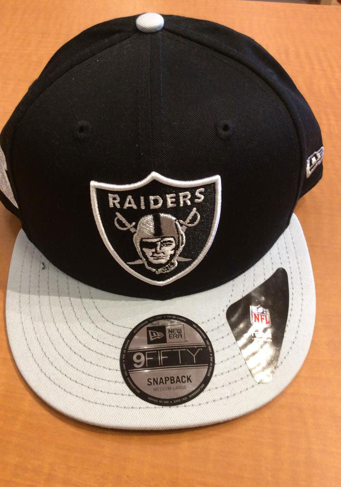 New Era Las Vegas Raiders Black Baycik 9FIFTY Mens Snapback Hat - Image 6