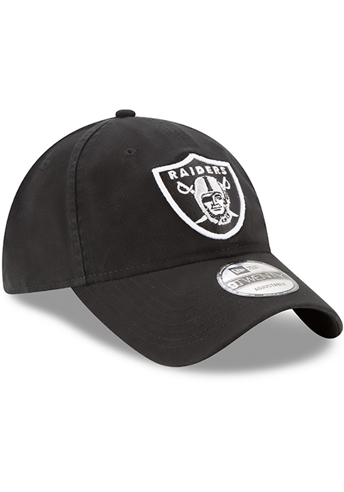 New Era Oakland Raiders Mens Black Core Classic 9TWENTY Adjustable Hat - Image 2