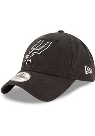New Era San Antonio Spurs Core Classic 9TWENTY Adjustable Hat - Black