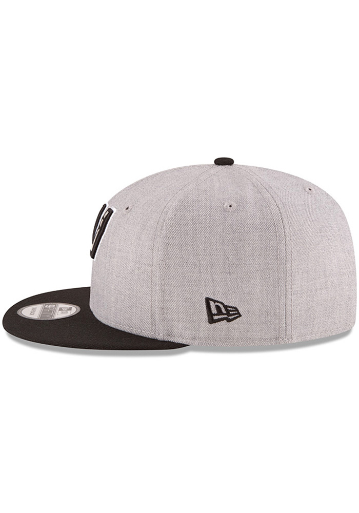 brand new b6beb e29a8 New Era San Antonio Spurs Grey Heather 9FIFTY Mens Snapback Hat - Image 4