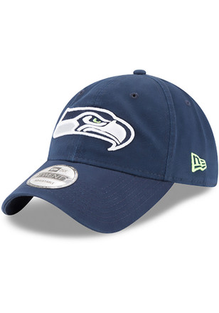 New Era Seattle Seahawks Navy Blue Core Classic 9TWENTY Adjustable Hat 39ab96633