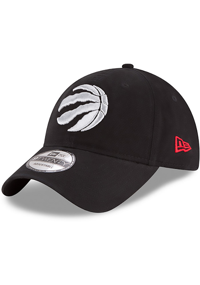 New Era Toronto Raptors Mens Black Core Classic 9TWENTY Adjustable Hat - Image 1