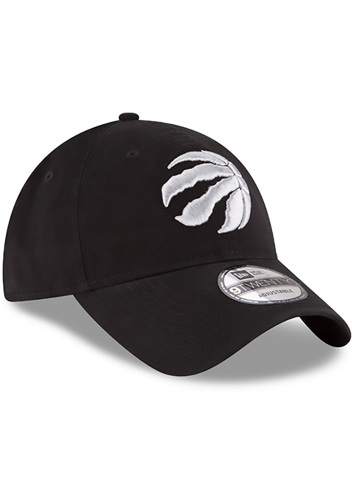 New Era Toronto Raptors Mens Black Core Classic 9TWENTY Adjustable Hat - Image 2