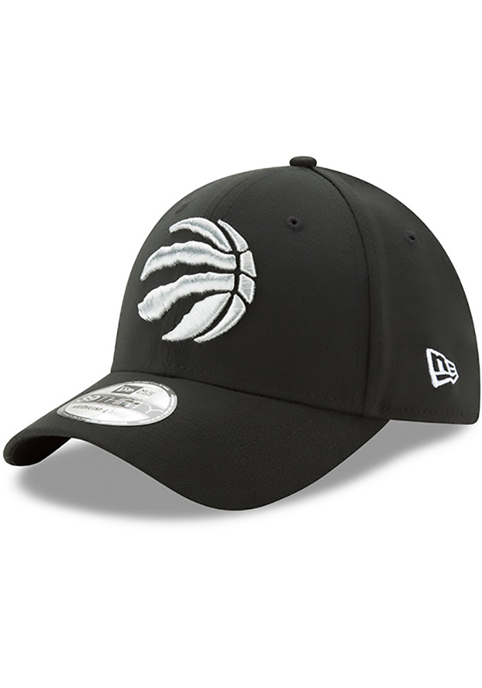 New Era Toronto Raptors Mens Black Team Classic 39THIRTY Flex Hat - Image 1