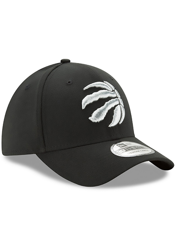 New Era Toronto Raptors Mens Black Team Classic 39THIRTY Flex Hat - Image 2