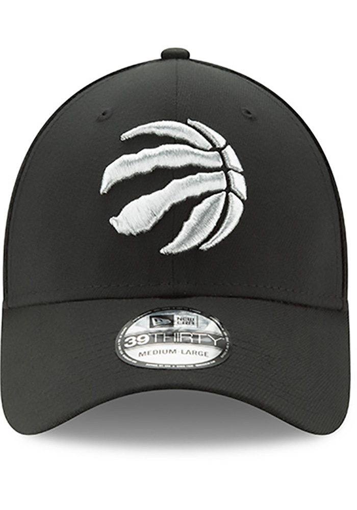 New Era Toronto Raptors Mens Black Team Classic 39THIRTY Flex Hat - Image 3