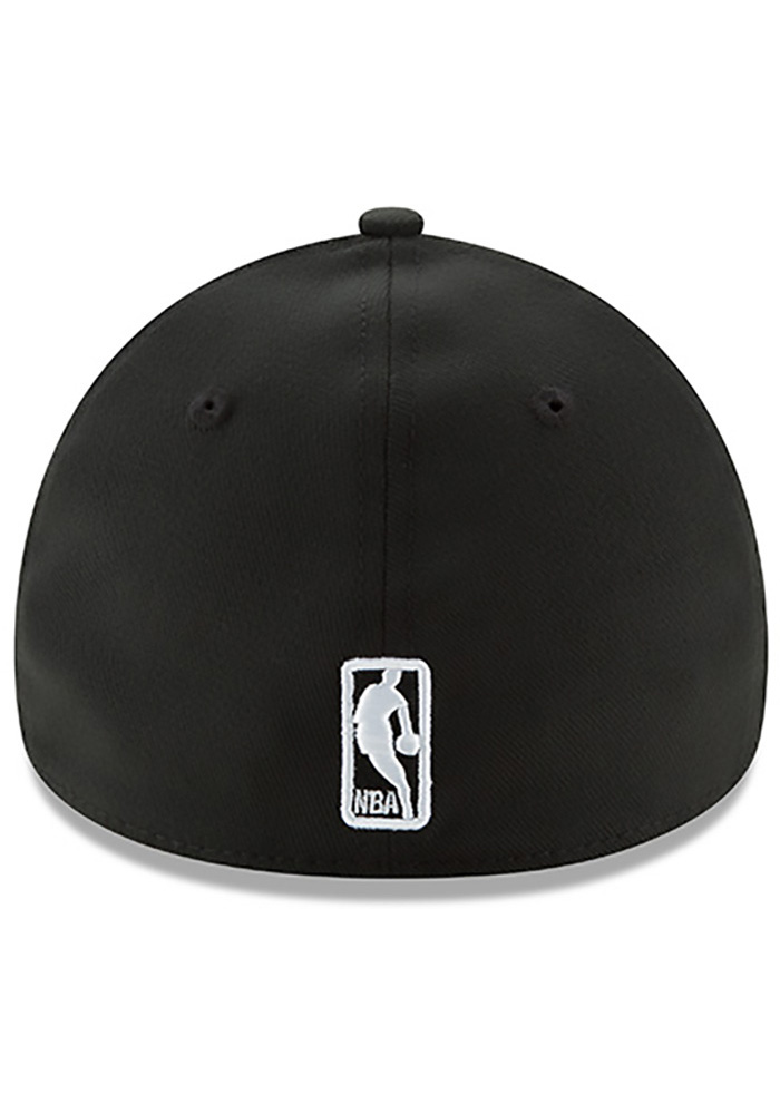 New Era Toronto Raptors Mens Black Team Classic 39THIRTY Flex Hat - Image 5