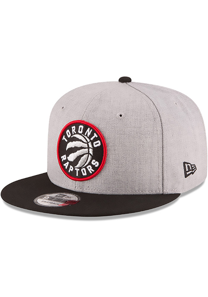 low priced really cheap top brands New Era Toronto Raptors Grey Heather 9FIFTY Mens Snapback Hat ...