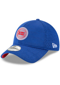 Detroit Pistons New Era 2018 On-Court 9TWENTY Adjustable Hat - Blue
