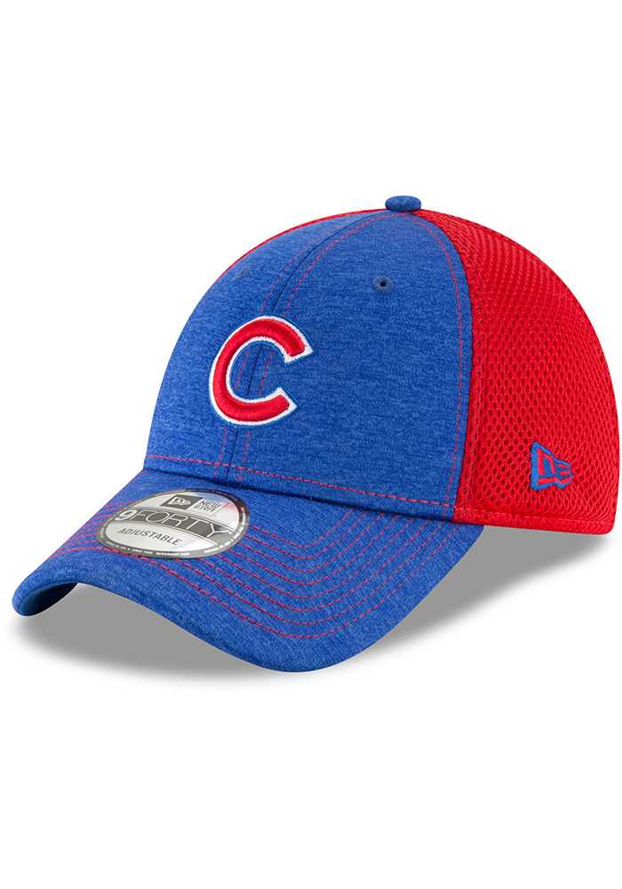 New Era Chicago Cubs Shadow Turn 2 9FORTY Adjustable Hat - Blue