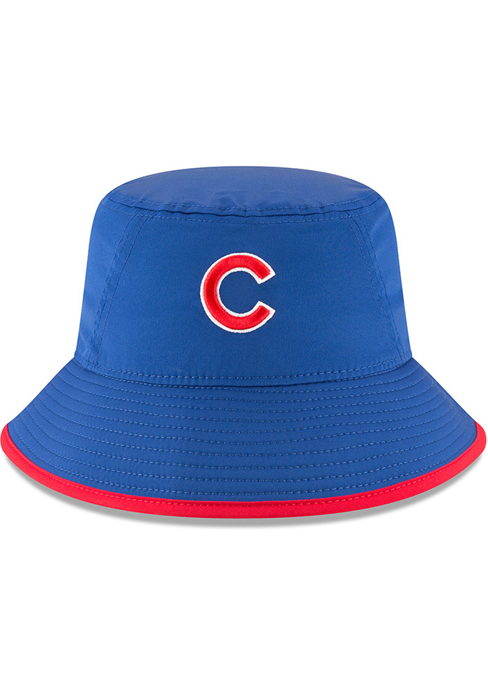 New Era Chicago Cubs Blue 2018 Clubhouse Mens Bucket Hat - Image 3