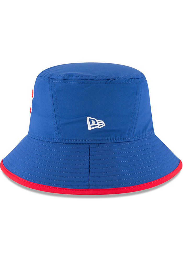New Era Chicago Cubs Blue 2018 Clubhouse Mens Bucket Hat - Image 4