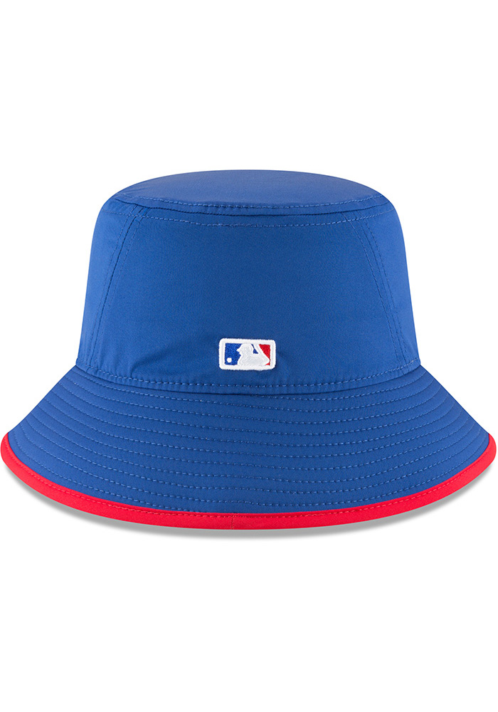 New Era Chicago Cubs Blue 2018 Clubhouse Mens Bucket Hat - Image 5