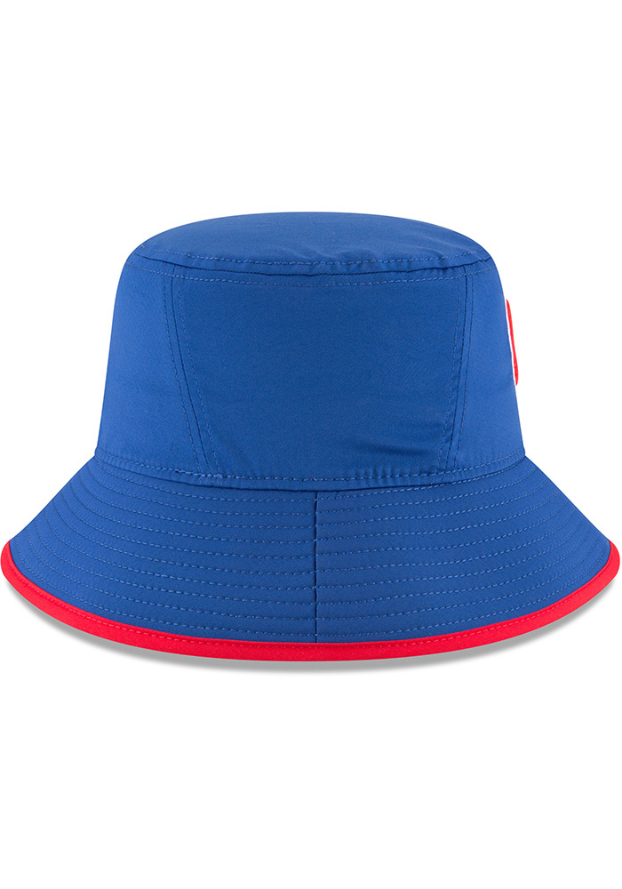 New Era Chicago Cubs Blue 2018 Clubhouse Mens Bucket Hat - Image 6