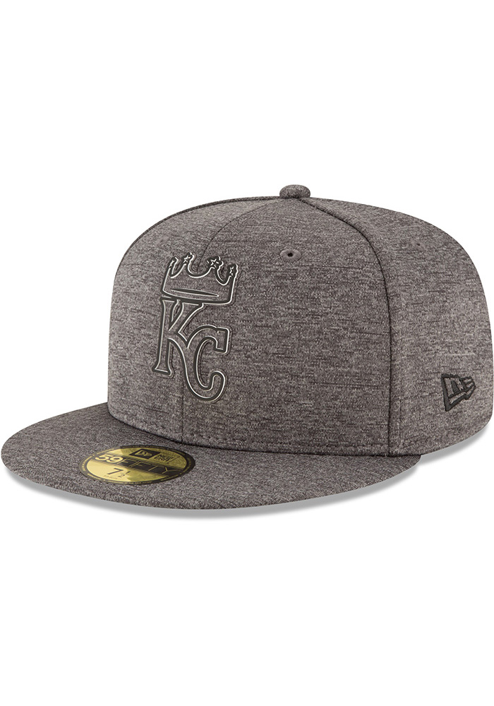 new style 019ad 213e8 New Era Kansas City Royals Mens Grey 2018 Clubhouse 59FIFTY Fitted Hat -  Image 1