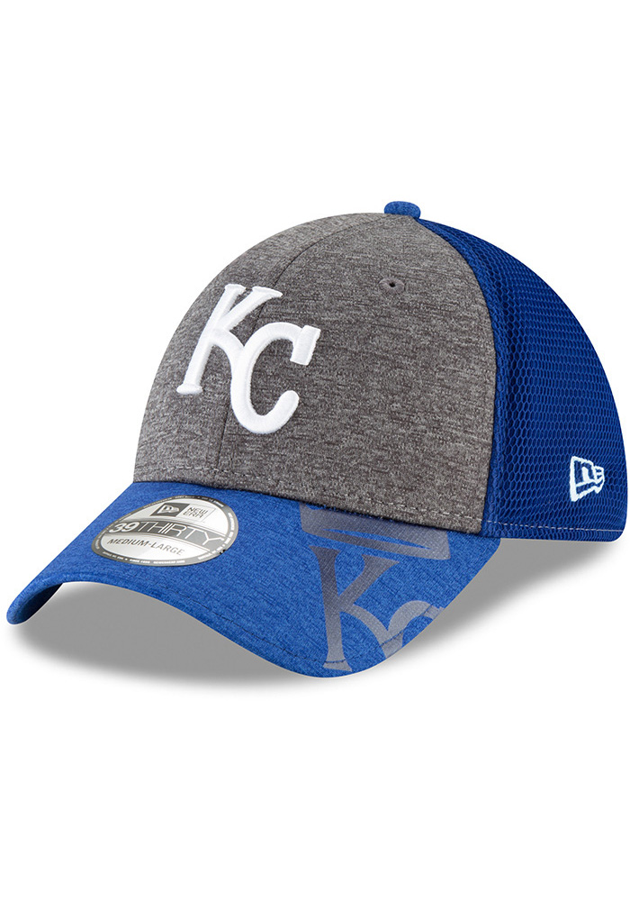 a9e1614fac7 New Era Kansas City Royals Blue Shadow Gleam Jr 39THIRTY Youth Flex Hat